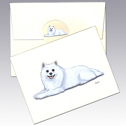 American Eskimo Dog 8 Pack Notecards