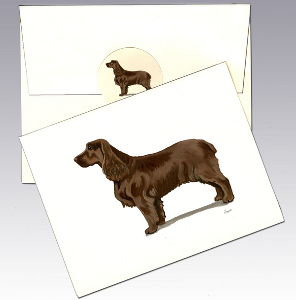 Field Spaniel 8 Pack Notecards