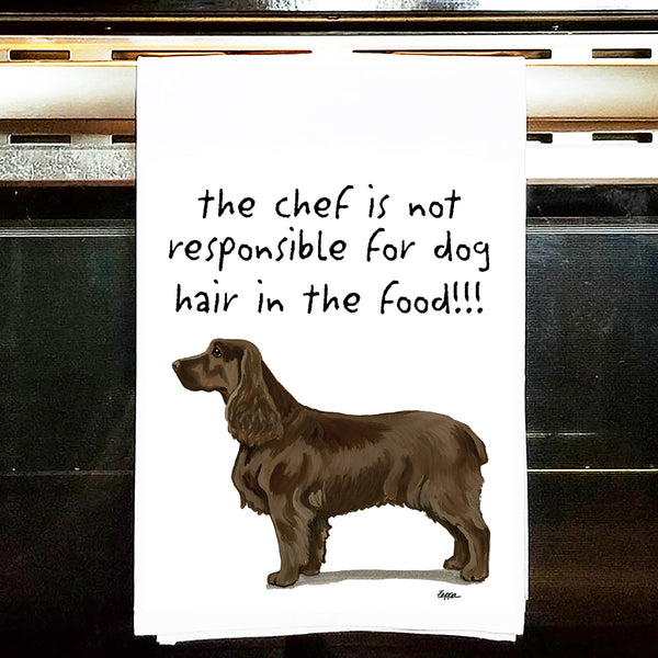 Field Spaniel Kitchen Tea Towel