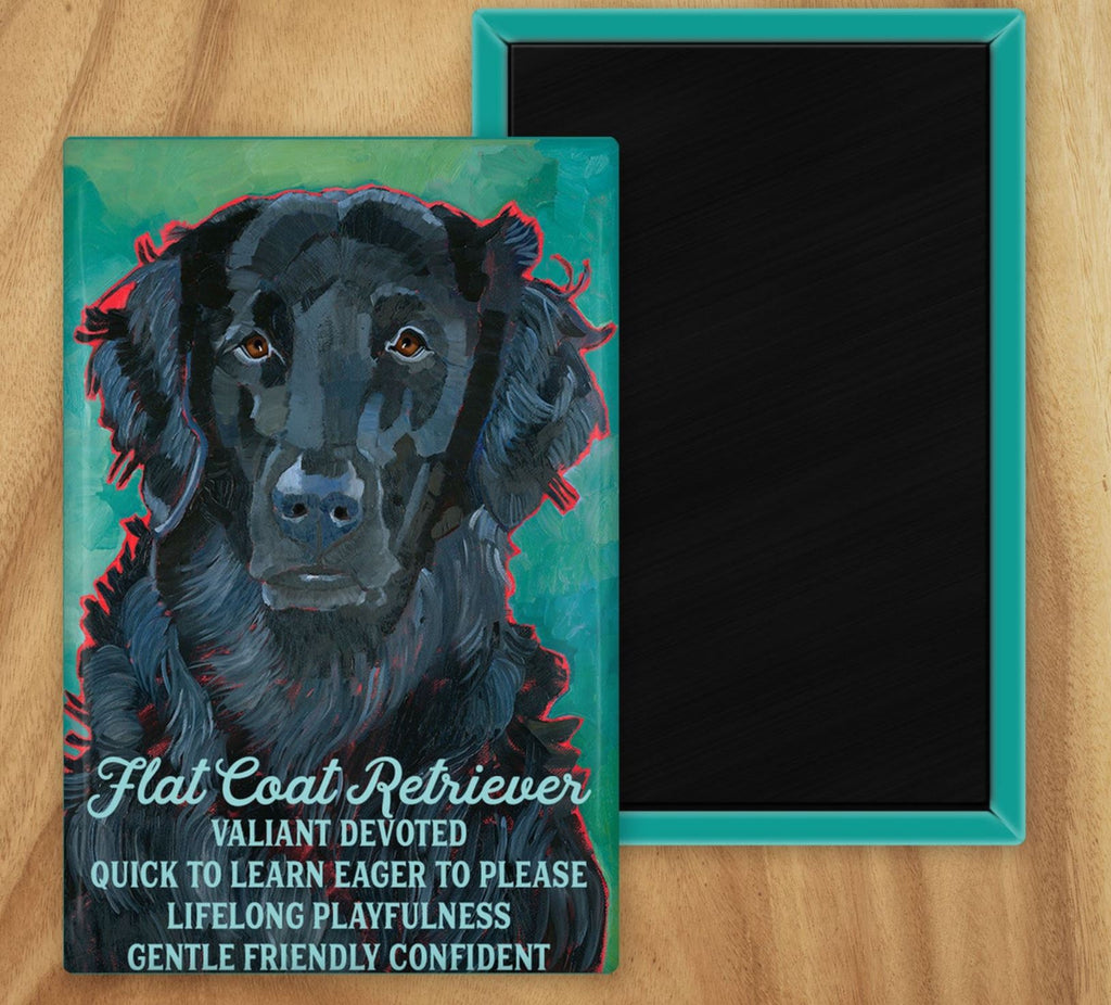 Flat-Coated Retriever 2 x 3 Fridge Magnet