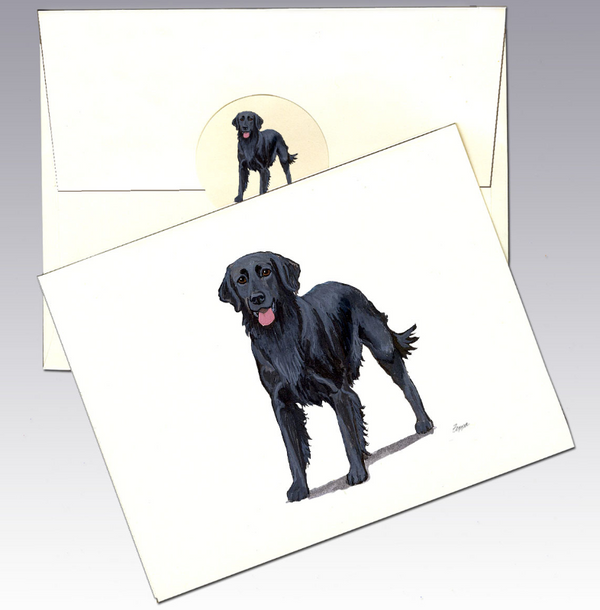 Flat-Coated Retriever 8 Pack Notecards