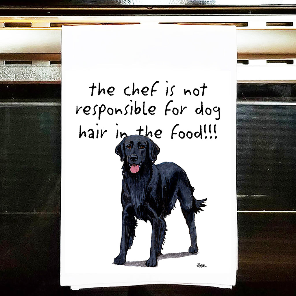 Flat-Coated Retriever Kitchen Tea Towel