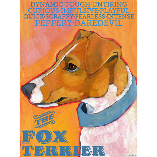Smooth and Wire Fox Terrier 2 x 3 Fridge Magnet