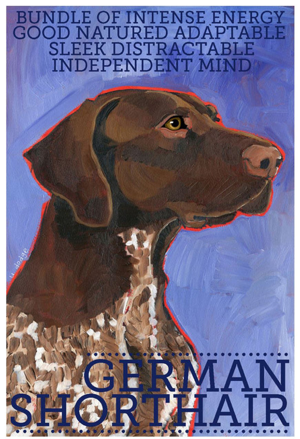German Shorthaired Pointer 3 x 4 Sticker