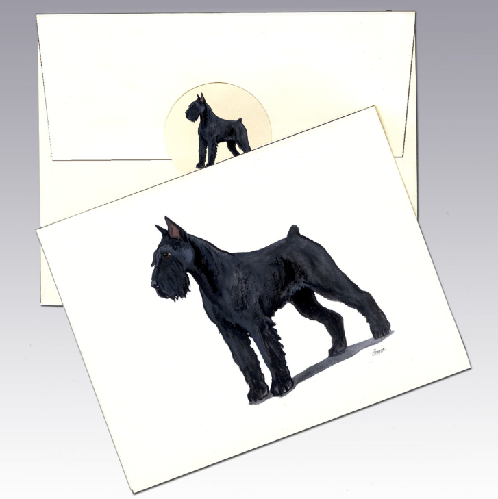 Giant Schnauzer 8 Pack Notecards