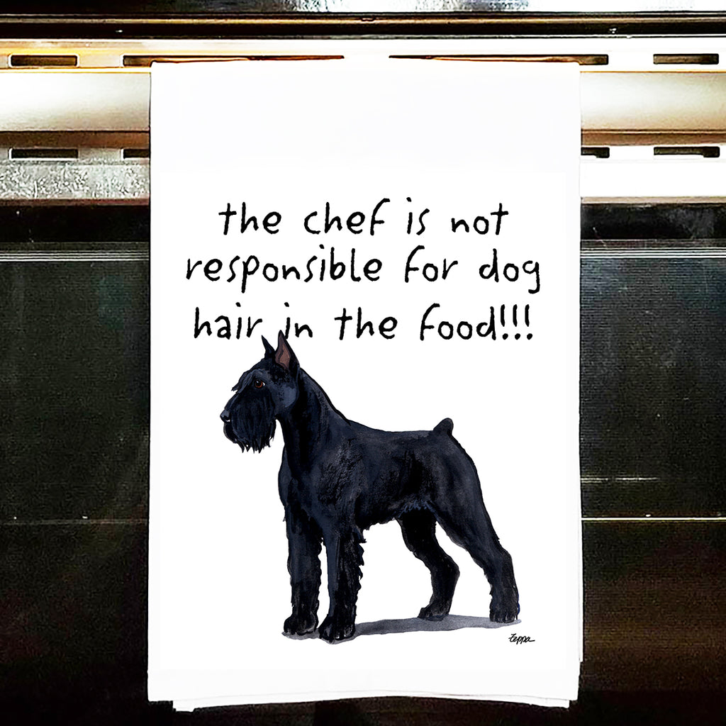 Giant Schnauzer Kitchen Tea Towel