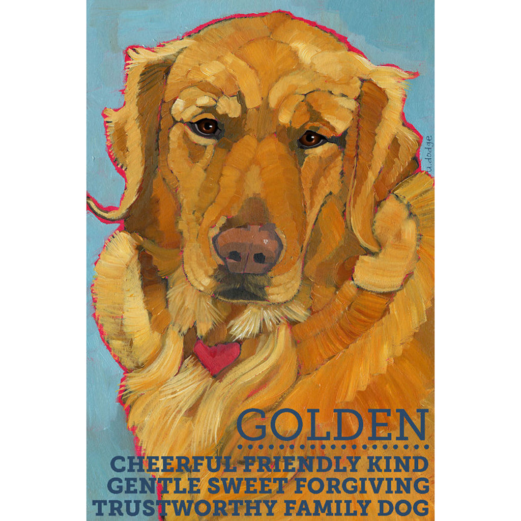 Golden Retriever 2 x 3 Fridge Magnet