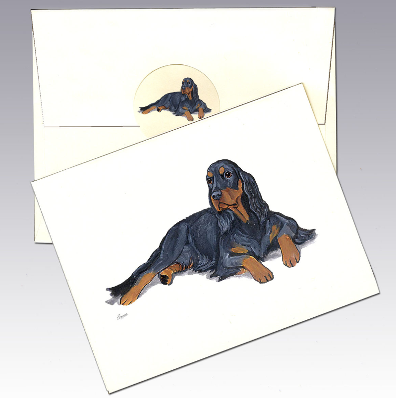 Gordon Setter 8 Pack Notecards