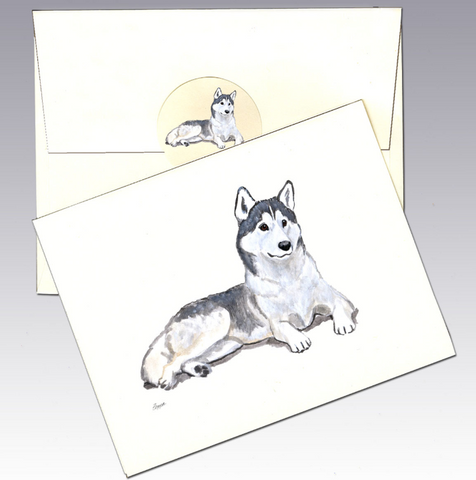 Siberian Husky 8 Pack Notecards