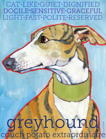 Greyhound 2 x 3 Fridge Magnet