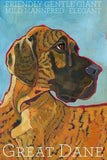 Great Dane 2 x 3 Fridge Magnet