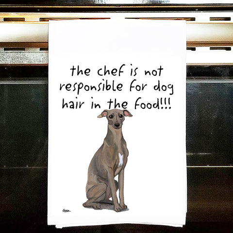 Italian Greyhound Kitchen Tea Towel