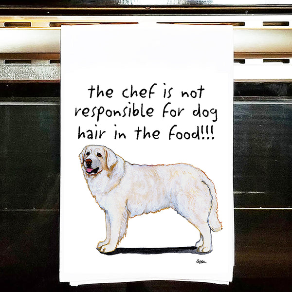 Kuvasz Kitchen Tea Towel