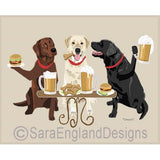Mixed Labrador 3 Dogs Prints