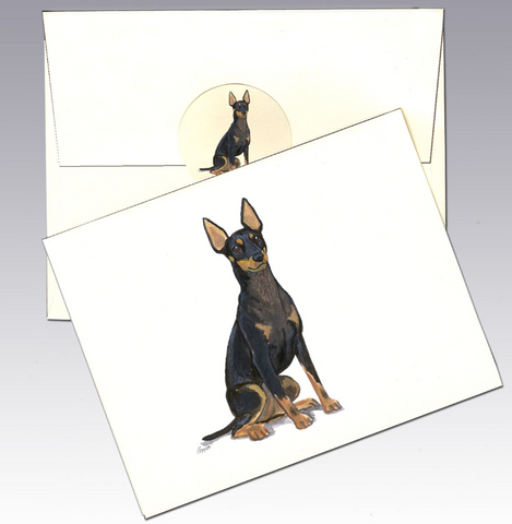 Toy Manchester Terrier 8 Pack Notecards