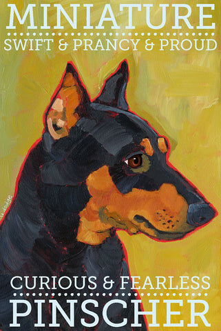 Miniature Pinscher 2 x 3 Fridge Magnet