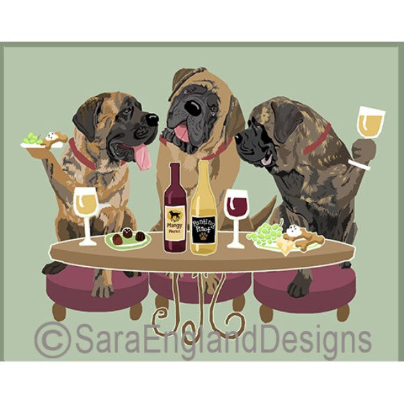 Neopolitan Mastiff 3 Dogs Prints