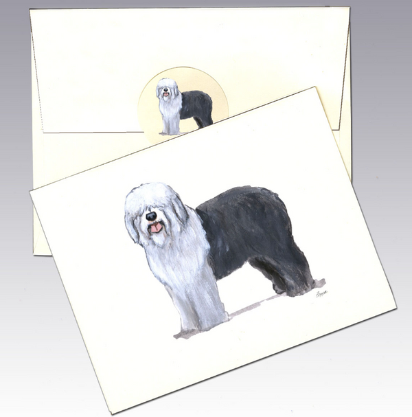 Old English Sheepdog 8 Pack Notecards
