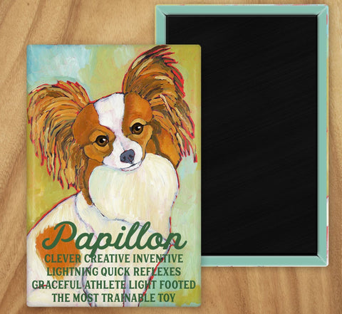 Papillon 2 x 3 Fridge Magnet