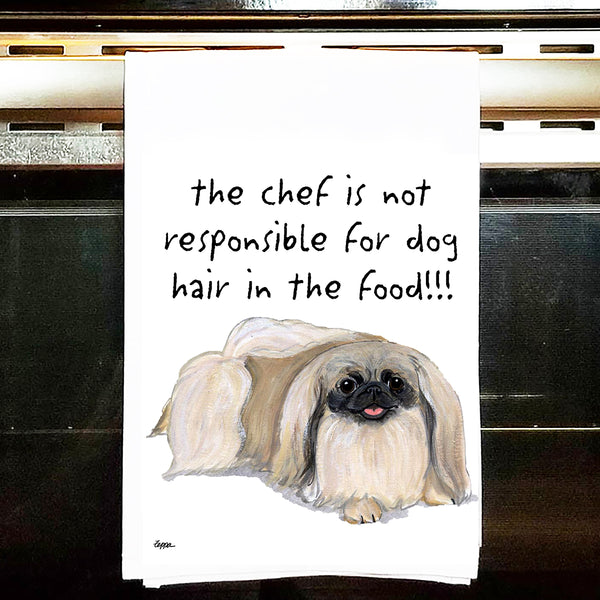 Pekingese Kitchen Tea Towel