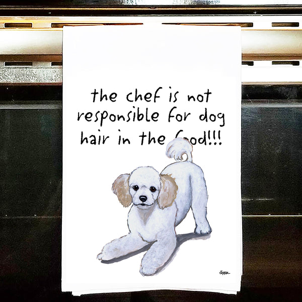 Poodle Kitchen Tea Towel