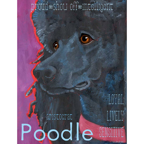 Poodle 2 x 3 Fridge Magnet