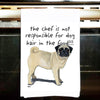 Pug Kitchen Tea Towel