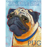 Pug 2 x 3 Fridge Magnet