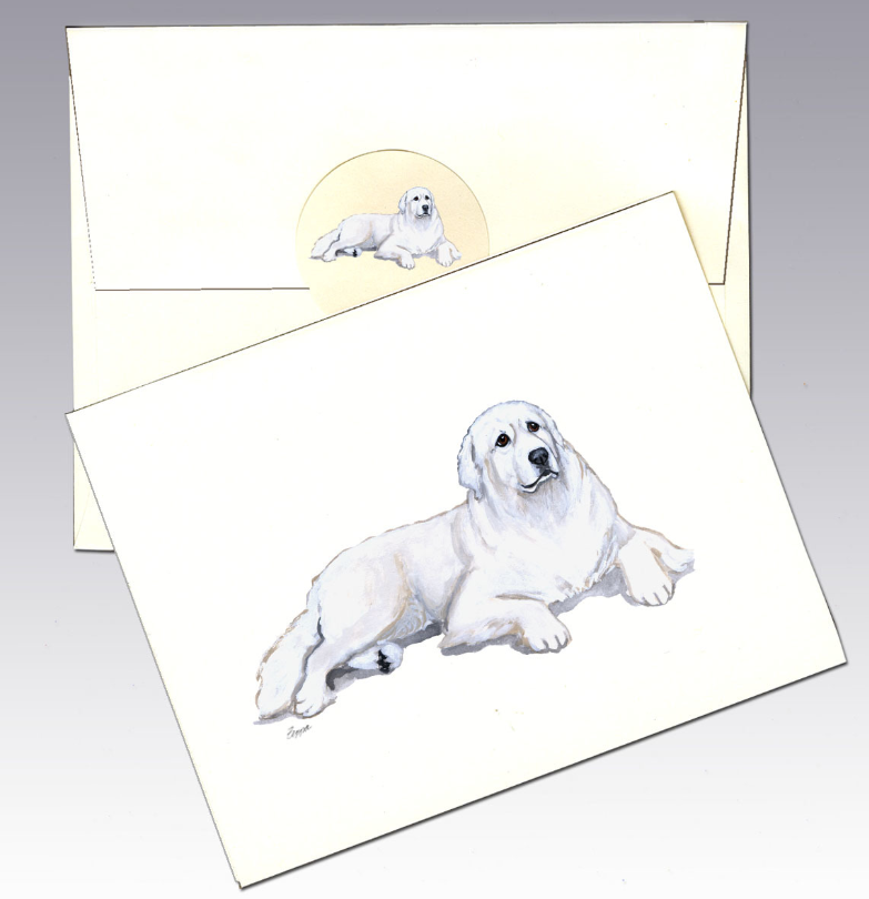Great Pyrenees 8 Pack Notecards