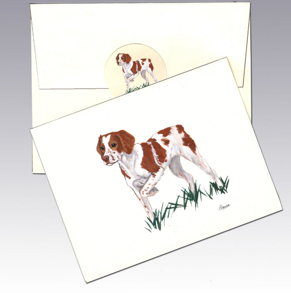 Brittany Spaniel 8 Pack Notecards