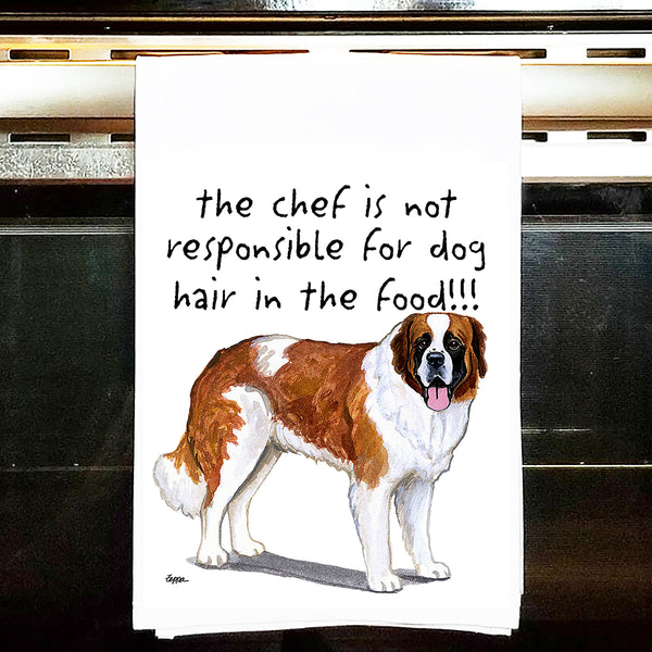 Saint Bernard Kitchen Tea Towel