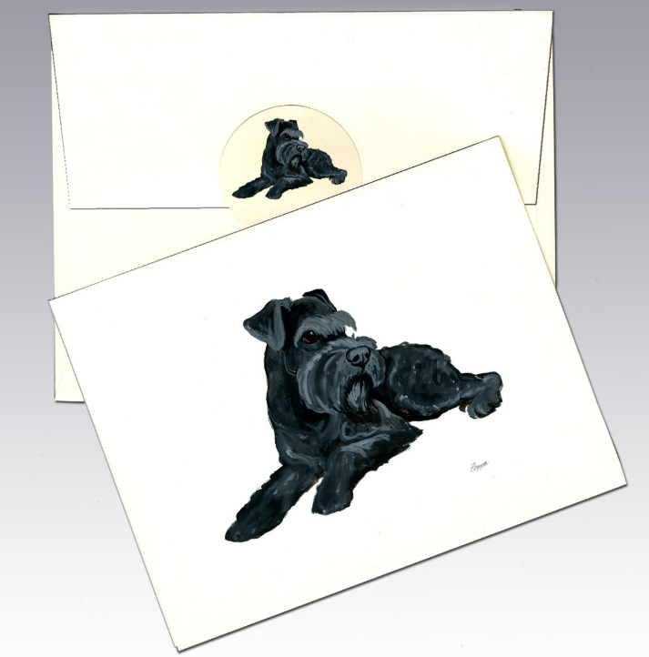 Schnauzer 8 Pack Notecards