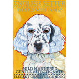 English Setter 2 x 3 Fridge Magnet