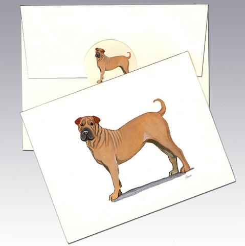 Shar pei (Chinese) 8 Pack Notecards