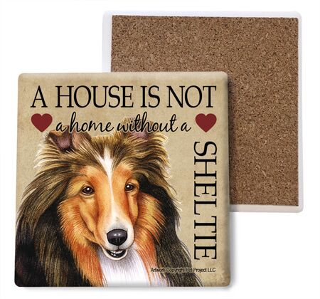 Sheltie Absorbent Stone Coaster