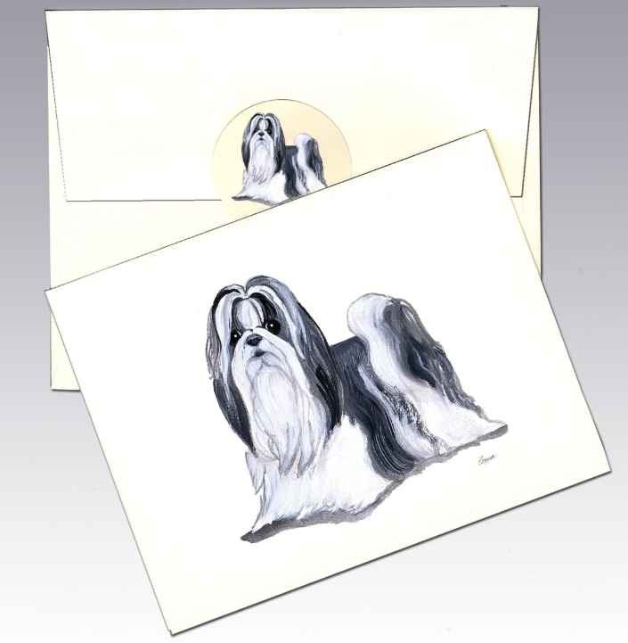 Shih Tzu 8 Pack Notecards