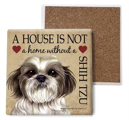 Shih Tzu (puppy cut) Absorbent Stone Coaster