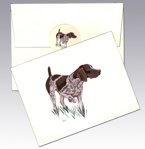 German Shorthair Pointer 8 Pack Notecards
