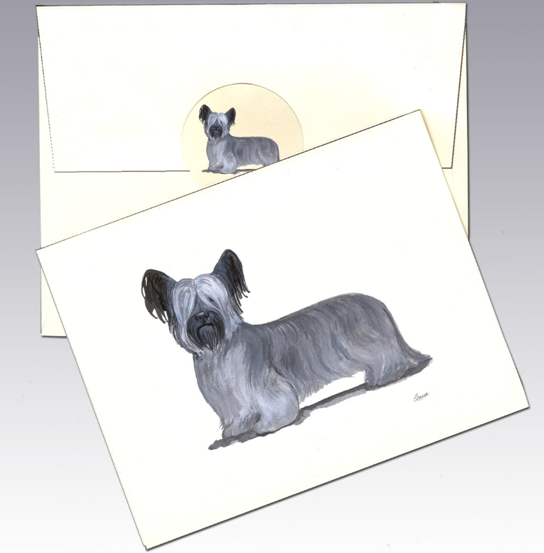 Skye Terrier 8 Pack Notecards