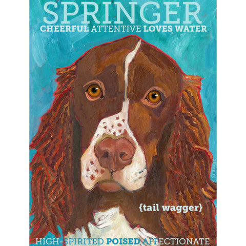 Springer Spaniel 2 x 3 Fridge Magnet
