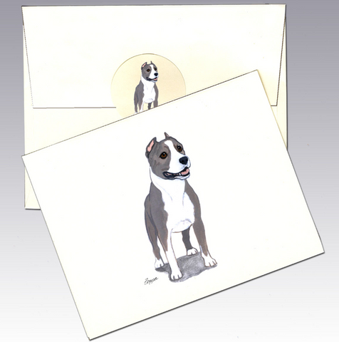 American Staffordshire Terrier 8 Pack Notecards