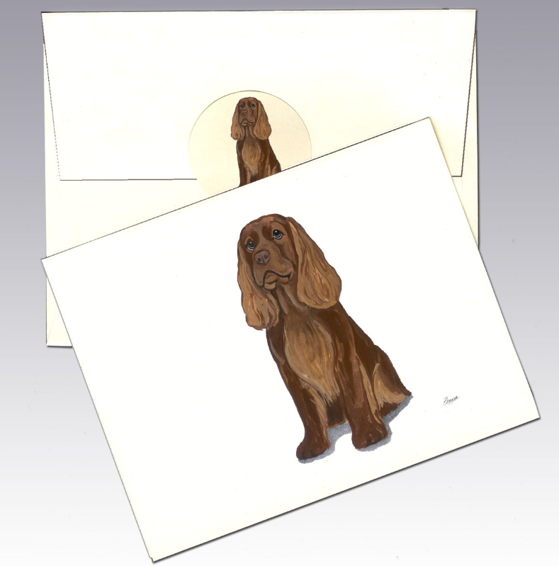 Sussex Spaniel 8 Pack Notecards