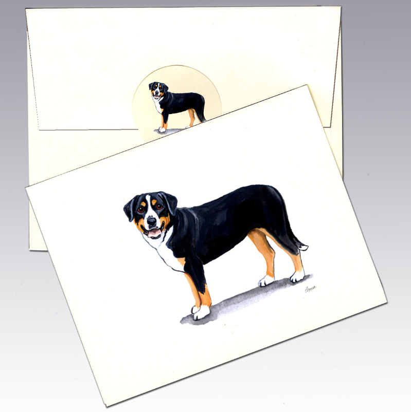 Greater Swiss Mountain Dog 8 Pack Notecards