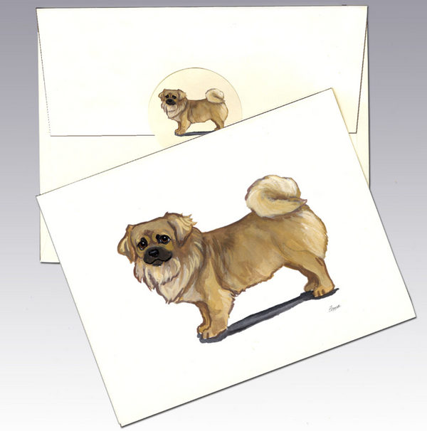 Tibetan Spaniel 8 Pack Notecards