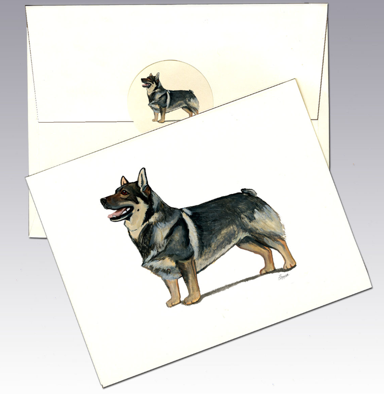 Swedish Vallhund 8 Pack Notecards