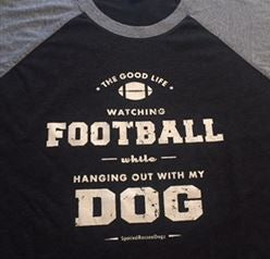 Football and Dog T-Shirt