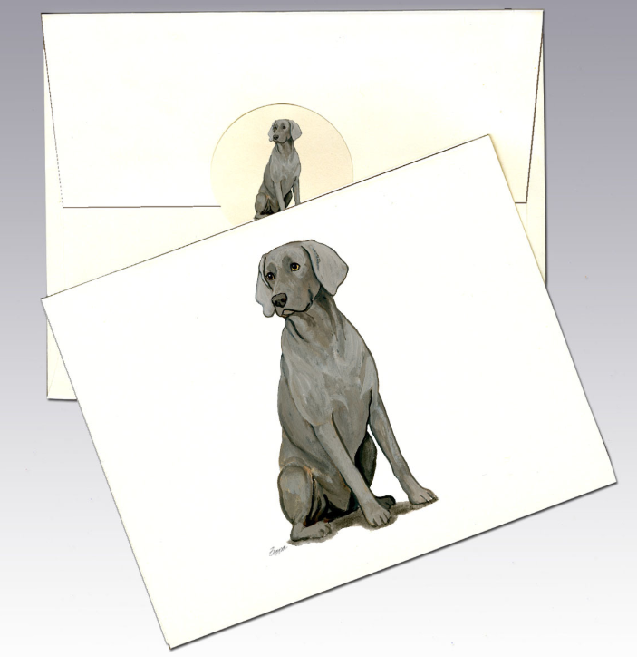 Weimaraner 8 Pack Notecards