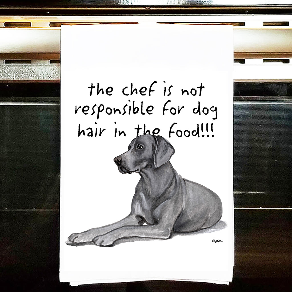 Weimaraner Kitchen Tea Towel