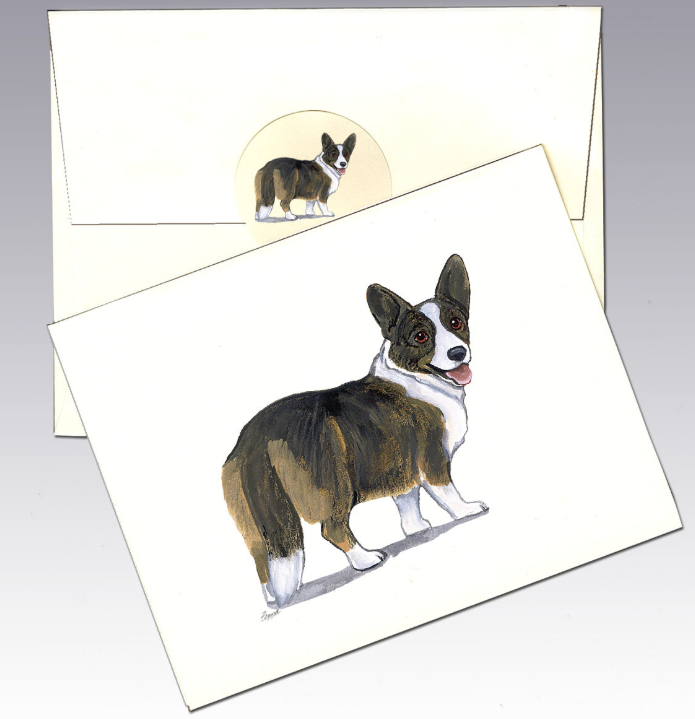 Welsh Corgi 8 Pack Notecards