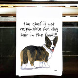 Welsh Corgi Kitchen Tea Towel